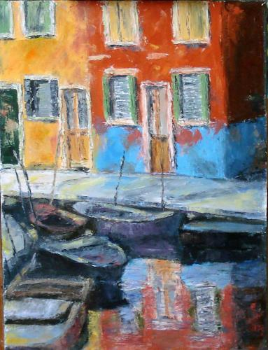 CANAL OIL ON CANVAS 18X24