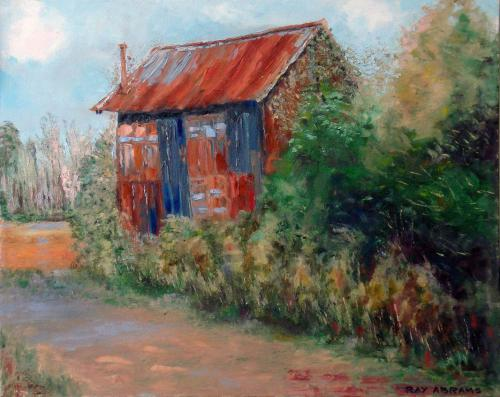 OLD TOBACCO BARN OIL ON CANVAS 24X30