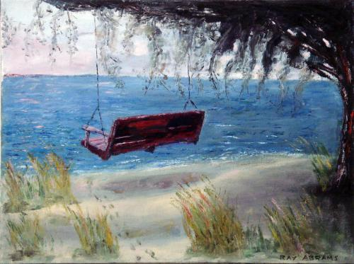 RED SWING OIL ON CANVAS 24X36