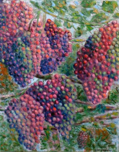 GRAPES OIL ON CANVAS 18X24
